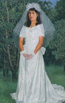 为完成临终嘱托:寻10年前画中美丽的长春新娘(图)