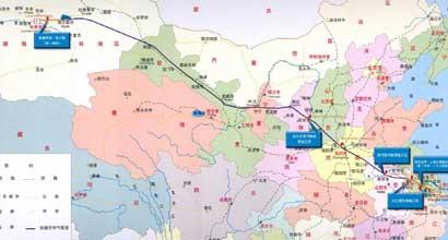 西气东输路线图