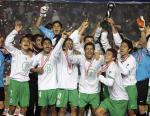 图文:世少赛墨西哥3-0巴西夺冠 墨西哥球员庆祝