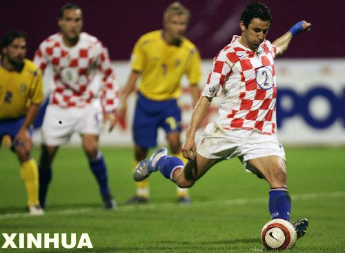 世界杯预选赛:克罗地亚胜瑞典出线(组图)