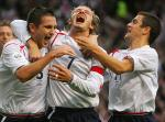 图文:英格兰小胜奥地利 兰帕德进球庆祝