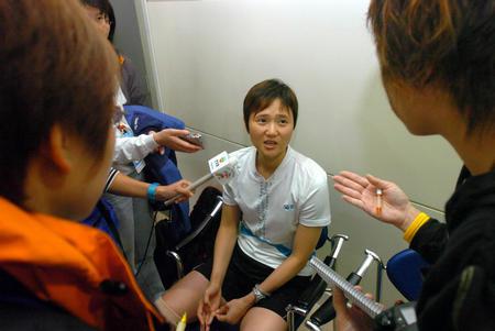 [十运会](2)羽毛球�D�D香港选手王晨弃权争夺女单第三名