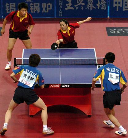 输赢:十运乒乓球混双决赛郝帅/唐娜比赛中图文买足球图片