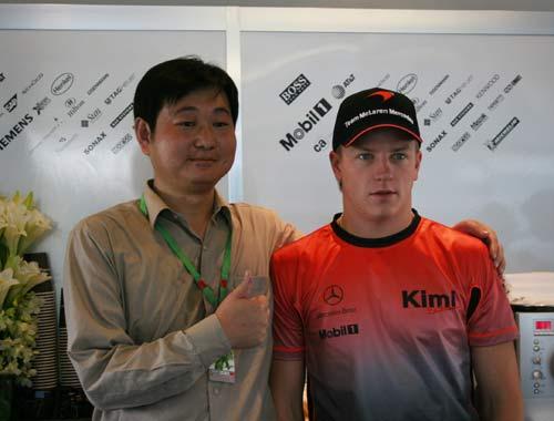 搜狐火线探营迈凯轮 雷克南感谢中国车迷的支持