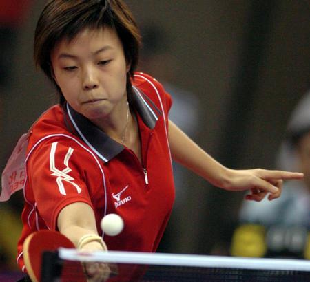 纪录:十运乒乓球女单张怡宁在举重中回球现代比赛最高图文图片