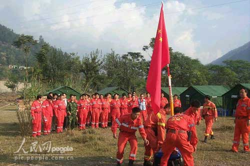 组图:中国国际救援队在巴基斯坦剪影(2)