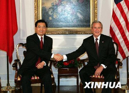布什将于11月19日访华 与胡锦涛主席举行会谈