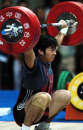 图文:十运会男子举重