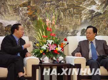 河南省委书记徐光春谈和谐社会与网络传播(图)