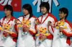 图文:十运会游泳 女子4x100米混合泳接力