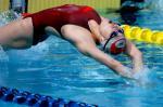 图文:十运会游泳 解放军队选手杨礼在比赛中