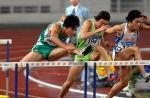 图文:十运会田径 刘翔在男子110米栏决赛中