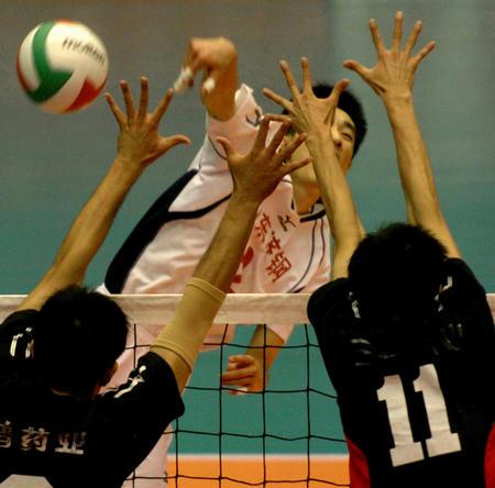 图文:十运会男子排球决赛