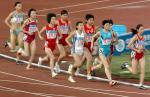 图片:十运田径最后一日 邢慧娜比赛中