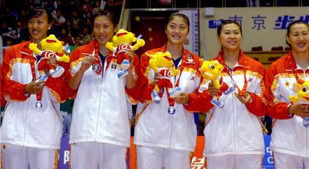 图文:天津队获得女排冠军