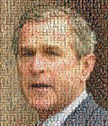 阵亡美军组成的布什头像