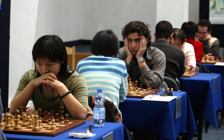 [体育](3)国际象棋�D�D团体世锦赛第二轮:中国女队不敌古巴队
