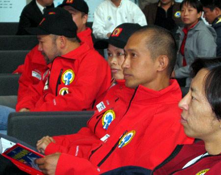 7+2队员刘建在活动现场