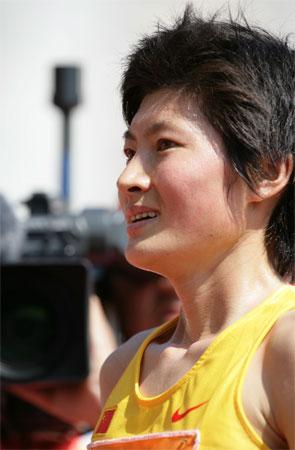图文:邢慧娜东亚运摘金 夺冠后十分兴奋