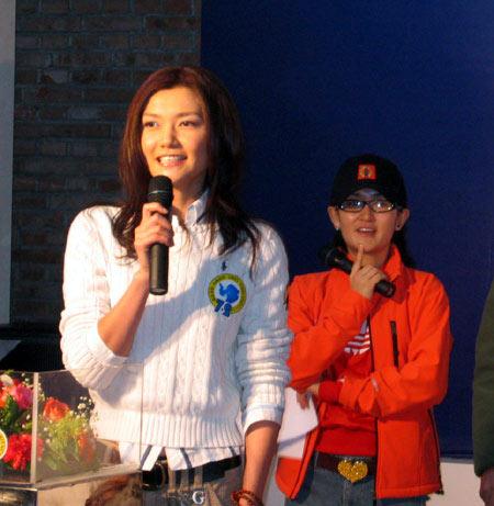 美女模特姜培琳现场组图