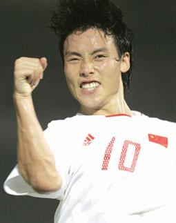 中国男足以1:0力克朝鲜队