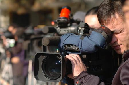 记者在北京钓鱼台国宾馆外守候