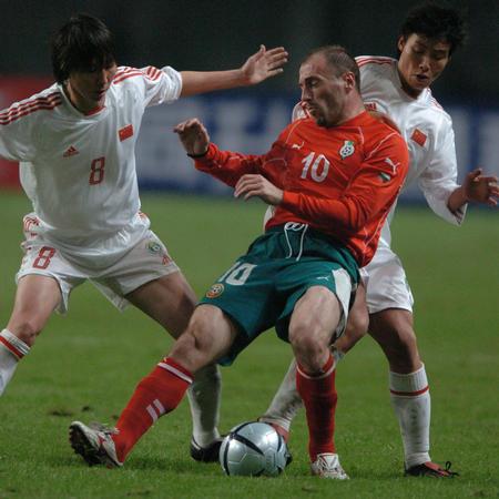 图文:友谊赛中国战平保加利亚