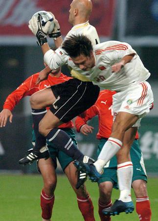 图文:国足友谊赛战平保加利亚