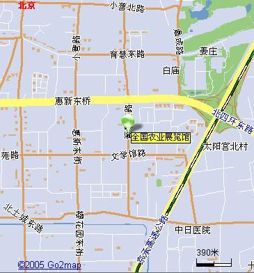 展览交通地图