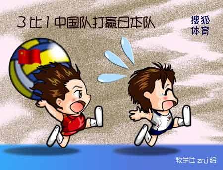 狐画体育:3比1中国打赢日本队