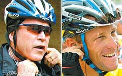 光看装备,布什还真不输给环法车王