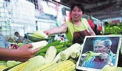 """""""布什""""帮中国商贩卖玉米"""