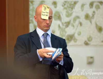 图文:布什会见中外记者花絮
