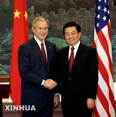 图文:中美两国元首在北京共同会见中外记者