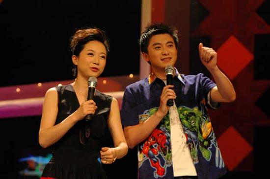 图:《魅力中国》栏目主持人郭云飞和刘钦