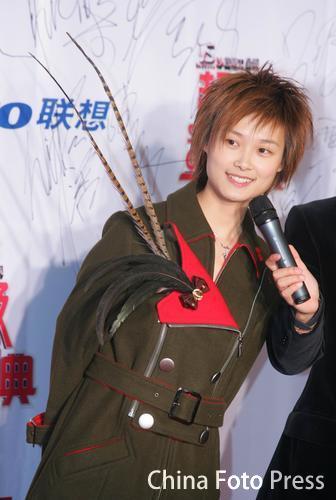 2005年MTV超级盛典:李宇春个性装扮帅气亮相