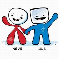 """图文:2006年冬奥会吉祥物""""内韦""""和""""格利兹"""""""