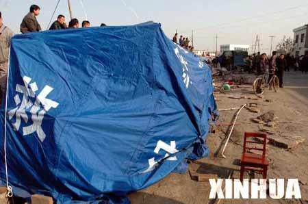 九江灾区:汽车闯进帐篷 灾民两死两伤[组图]