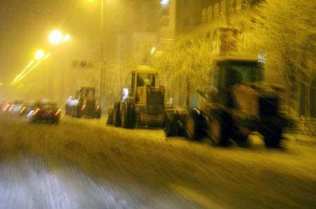 辽宁发射21枚火箭催雪 沈阳降下今冬第一场雪