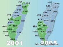 台湾县市长选举图解