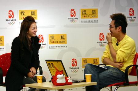 """""""电眼娃娃""""张韶涵做客搜狐:喜欢稳重的男生"""