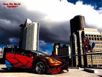 蜘蛛侠之梦--夸张另类的汽车喷绘改装