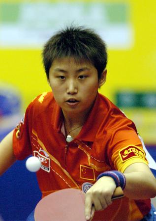 图文:女乒世界杯开战 中国选手郭跃