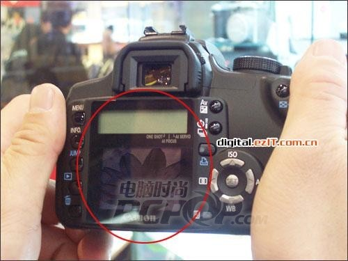 佳能350D内藏玄机LCD显示屏突现神秘图片