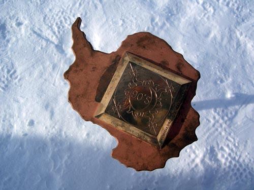今年南极点的标志