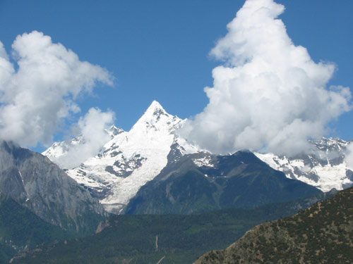 梅里地区主要的雪山和冰川[图]