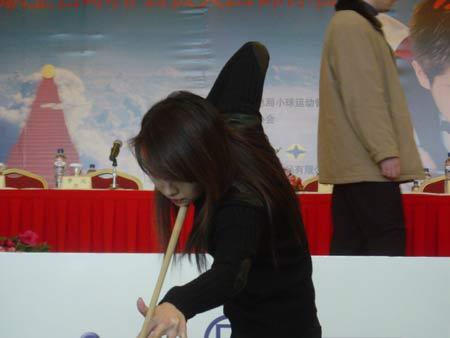 1日下午,中国台球协会为刚刚在 (搜狐体育 胡金一/摄)   (责任编图片