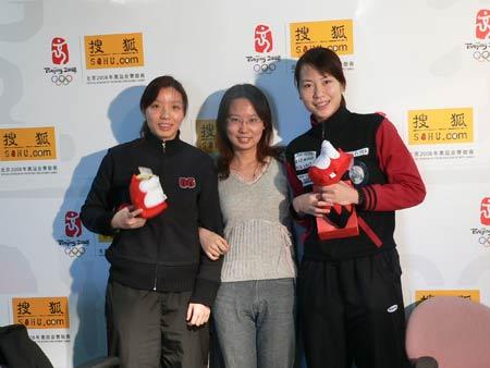 可爱女生的生活 羽球女双杨维/张洁雯做客搜狐