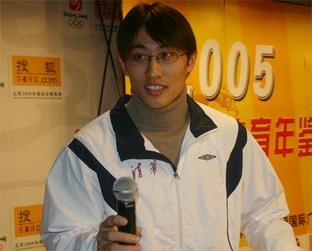 图文:搜狐强势体育发布会 胡凯发言博得掌声