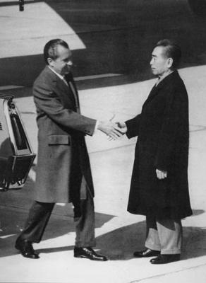资料:美国前总统尼克松称赞周恩来沉着坚定(图)